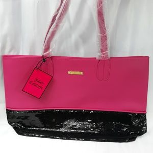 Juicy Couture tote pink with black bottom